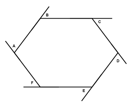 Angles geometry quadrilaterals mathplanet What is an exterior angle of a polygon